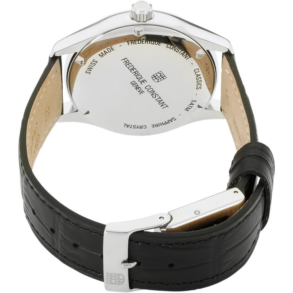 Frederique Constant Men's Classics Index 40mm Black Leather Band Steel Case Auto image 2