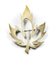 "Beautiful Sterling Silver Maple Leaf Cut Out Brooch Pin BSC 2.25"" - $19.15"