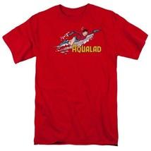 Aqualad T-shirt Aquaman retro superhero cartoon DC cotton red graphic tee image 2