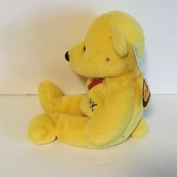 NWT MARY MEYER YELLOW APPLE NEW YORK BEAN BAG BEAR PLUSH CUTE