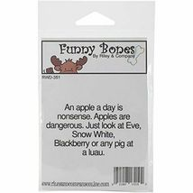 Riley & Company Funny Bones Rubber Cling Sentiment Stamp #RWD-351