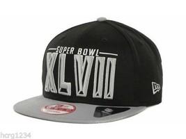 New Era 9Fifty New Orleans Super Bowl XLVII Snapback Cap Hat Black Gray - $18.04