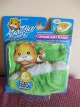 Zhu Zhu Pets Hamster Bed & Cozy Blanket, Green, New In Pack Cepia 2008 Retired - $9.89
