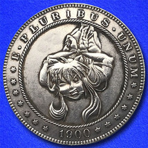 "All Tied Up ""Hobo Nickel"" on Morgan Dollar Coin ** - $4.79"