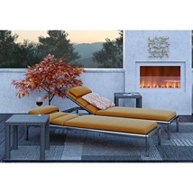 Outdoor Patio Recliner Set Of 2 Chaise Lounge Adjustable Reclining Pool ... - $405.49