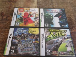 Lot of 4 Nintendo DS Games Need for Speed Nitro Big Mutha Truckers Bionicle Lego - $28.84
