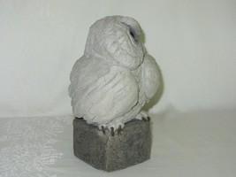 Handcrafted Cement Concrete Owl Figurine Vintage Garden Sculpture Rustic Art image 2