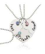 Best Friend Necklace Women Crystal Heart Tai Chi Crown Best Friends Fore... - $16.57