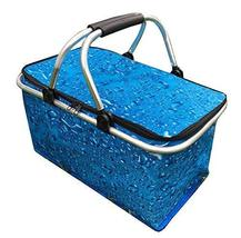 Black Temptation [Blue] Collapsible Picnic Basket Insulated Picnic Baske... - £27.19 GBP