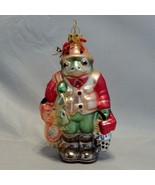 Blown Glass Frog Fly Fisherman Christmas Ornament - $12.87