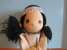 """Precious Moments LAST FOREVER indian Doll WANNIE children i  Hair 13"""" - $31.68"""