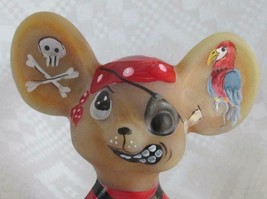 FENTON PIRATE HANDPAINTED-SIGNED MOUSE  Kibbe - $155.00