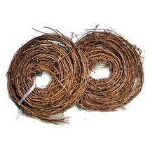 Ougual DIY Crafts Natural Grapevine Twig Garland Wreaths Decor 15-Feet image 1