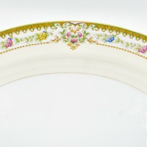 Meito China Blue Yellow & Pink Flower Gold Accent Oval Serving Platter image 2