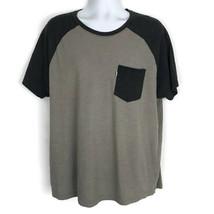 Levis Mens Shirt Size XXL Gray Short Sleeve Tee Casual Shirt Front Pocke... - £10.00 GBP