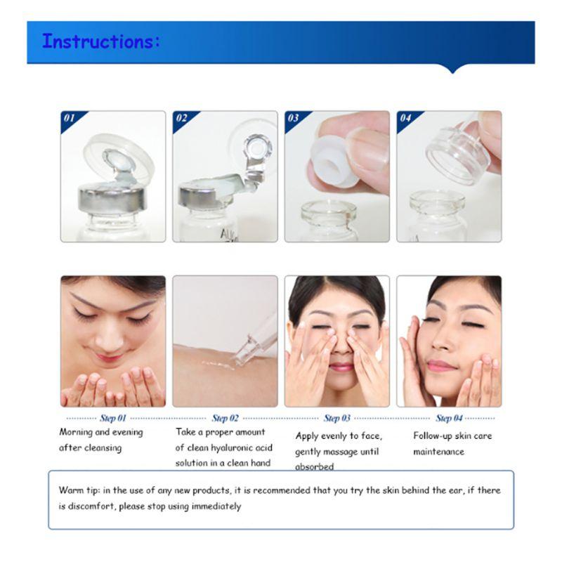 10pcs/Set Moisturizing Hyaluronic Acid Anti Wrinkle Anti Aging Serum Essence B6