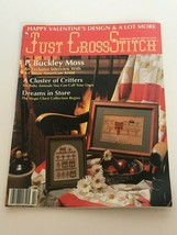 Just Cross Stitch Magazine Patterns February 1990 Baby Animals Rose World Love - $8.49