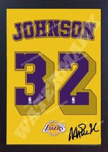 Magic Johnson LA Lakers NBA signed autograph t-shirt CANVAS 100% COTTON ... - $19.27