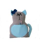 Handmade Cat shaped throw pillow - fleece decoration cushion-nursery bab... - $38.00