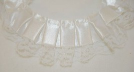 Simplicity 176011002030 White Pleated Ribbon Top With Lace Trim 10 Yards image 2