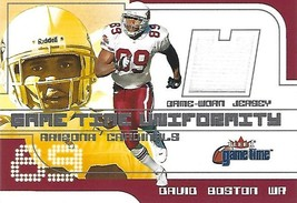 2001 Fleer Game Time Uniformity #3 David Boston - $2.00