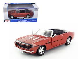 1968 Chevrolet Camaro SS 396 Convertible Bronze 1/24 Diecast Model Car by Maisto - $31.72