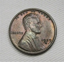 1929-D Lincoln Wheat Cent NCH UNC Brown Coin AF418 - $30.89