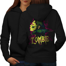 Crow Death Skull Zombie Sweatshirt Hoody Horror Rob Women Hoodie Back - $21.99+