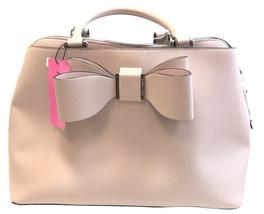 Betsey johnson Purse Bow satchel pink  blush nwt - $89.00