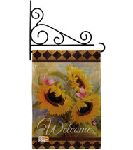 Welcome Sunflower Spring Burlap - Impressions Decorative Metal Fansy Wall Bracke - $33.97