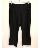 NIKE fitDRY Womens SMALL Black Yoga crossFIT Athletic Running Capri Pants - $9.89