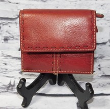 Fossil Red Leather Mini Organizer Wallet