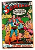 Superman #188 Comic Book 1966-DC COMICS-ASSASSIN School Story - $27.74