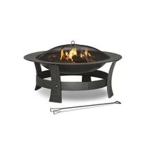 Fire Pit Wood Burning Outdoor Patio Deck Backyard Heater 35 inch Steel - $85.00