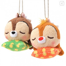 Japan Disney Plush Keychain - Sleeping Chip & Dale Cushion - $29.99