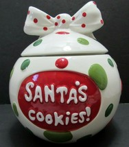 Real Home Cookies for Santa Christmas Holiday Ornament Cookie Jar Earthe... - $23.75