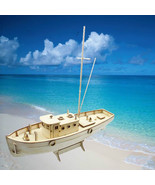 Sailing Boat Model DIY Wooden Kit Ship Building Educational Assembly 1/3... - $17.99