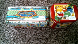 -85- M&M's Christmas Village Series Diner #4 & Photo Booth #18 Tin Canister - $25.20