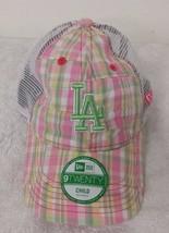 Los Angeles Dodgers Flannel Pink Girl's Adjustable 9-Twenty New Era Curv... - $16.82
