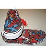 Vans x Marvel Spider Man Classic Slip on Mens Black Canvas Skate shoes S... - $55.43