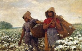The Cotton Pickers by Winslow Homer Farming Two Women Farme Worker 30x19 Canvas - $226.71