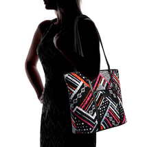 Vera Bradley Small Trimmed Vera Bag, Northern Stripes image 7