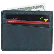 Mens Slim Genuine Leather Credit Card Holder Front Pocket Wallet RFID Block - $14.71