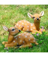 2 Piece Deer Statue Spring Garden Outdoor Yard Decor #824 - $80.00