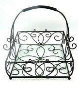 Southern Living at Home Jamestown Centerpiece Iron Basket #40641 Glass I... - $21.73