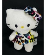 "Hello Kitty Plush Black Leopard Sparkle Stuffed Animal Sanrio Fiesta 6"" ... - $11.87"