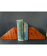 Vintage Mid Century Redwood Bookends Handmade Northern California - $38.92