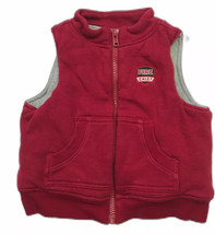 Gymboree Classic Holiday Fire Chief Red Fleece Vest 12-18 mos. - $10.88