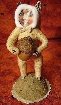 Vintage Inspired Spun Cotton Squirrel Girl no. 320.