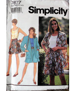 Vintage Simplicity 7677 Pattern Shorts Top Unlined Jacket Size A A PT-MD... - $12.00